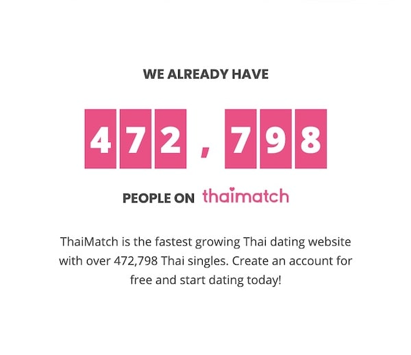 number of users on ThaiMatch