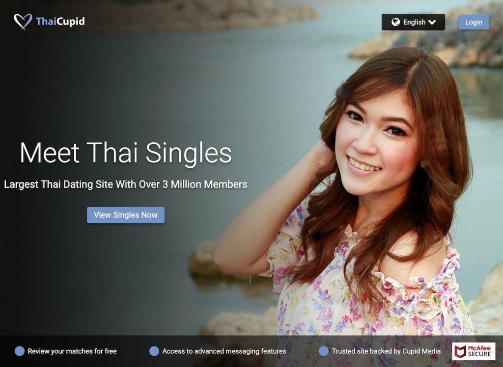 ThaiCupid.com homepage screenshot