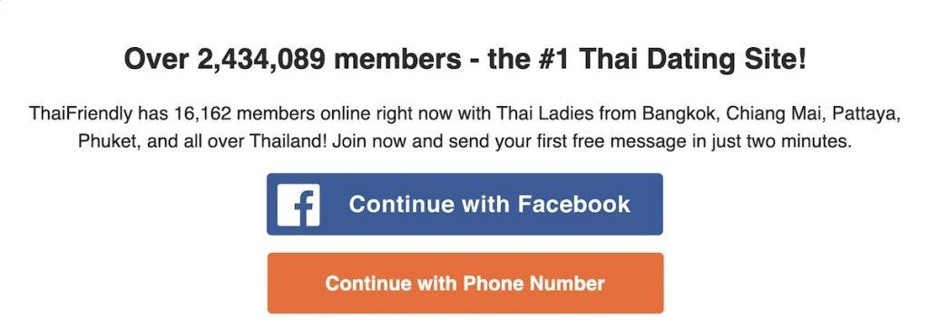 thaifriendly homepage title and text